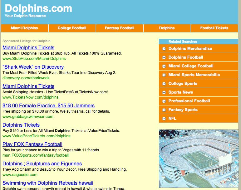 Dolphins.com screenshot