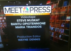 Bobbleheads on meet the press