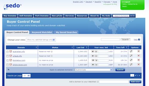 Buyer Control Panel - new