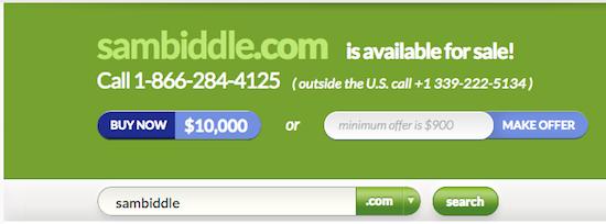 SamBiddle.com