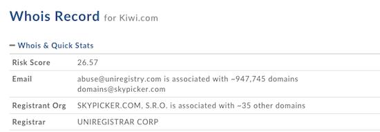Kiwi.com Whois