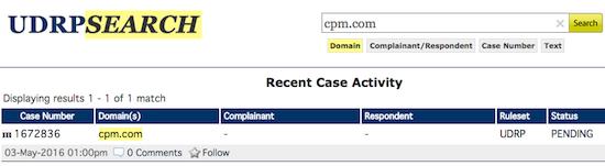 cpm.com udrp