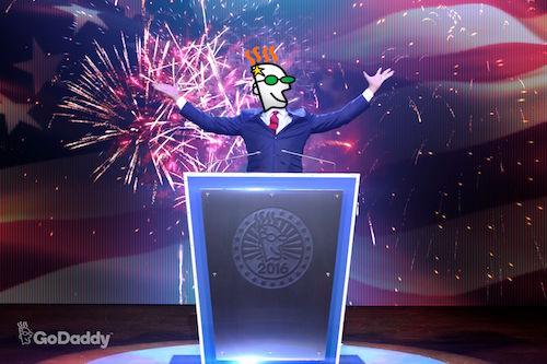 GoDaddy Debate Advertisement