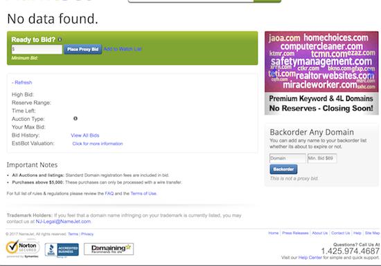 Public Auctions Near Me >> Namejet Addresses Missing Public Auction History Domaininvesting Com